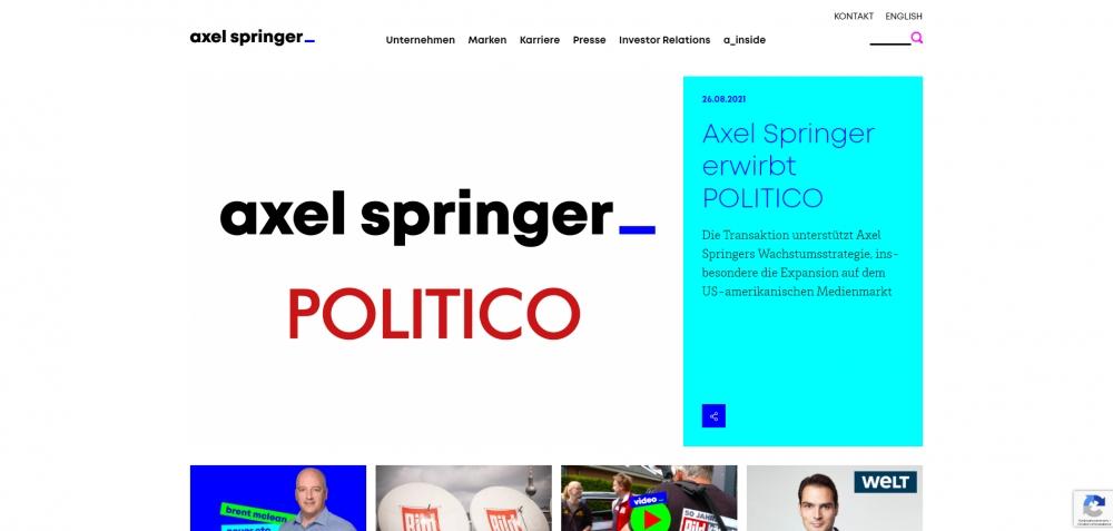 Axel Springer подписал соглашение о приобретении американской новостной компании Politico