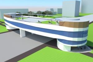 Двухуровневый пешеходный переход с коммерческой составляющей