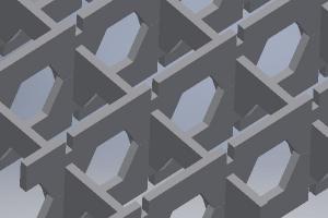 Георешетчатая конструкция из пластиковых полос